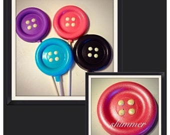 Button Lollipops - Chocolate Button lollipops