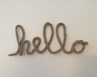 First name / customizable word in knitting, handmade