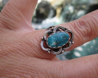 Turquoise and Sterling Ring Size 6.25