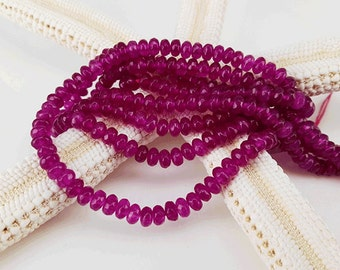 Full Strand 4x3mm 139pcs Purple Agate Faceted Rondelle Beads Agate Gemstone Beads
