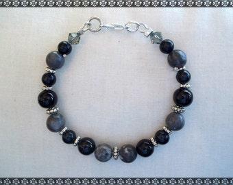black and grey bracelet, black bracelet, grey bracelet, grey and black bracelet