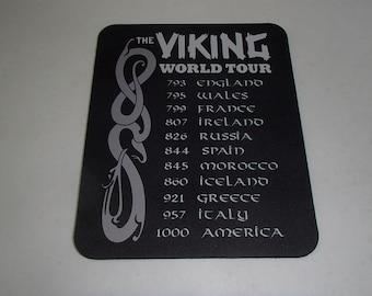 Scandinavian Viking Mouse Pad - Viking World Tour #5000D