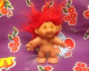 Vintage DAM plastic troll doll- 1986