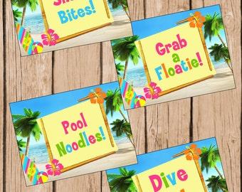 Teen Beach Movie Food Labels INSTANT DOWNLOAD, Teen Beach Movie Party, Teen Beach Movie Birthday