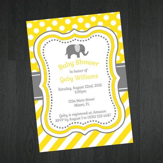 baby elephant themed baby shower invitation cute elephant baby