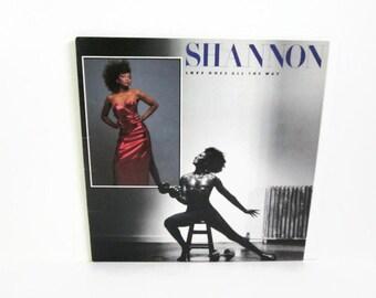 Vinyl Record Album, Shannon Love Goes All The Way LP, 1986 Atlantic Records, Female Disco Singer, 1980's Dance Pop Music, Gay Interest