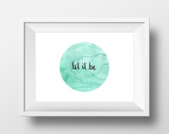 Let it be | calligraphy