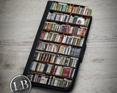 iPhone Wallet Case - Book Shelf Vintage Library Bookshelf Books - 4, 4s, 5, 5s, 5c, 6, 6 Plus Wallet Case Cover - id: 26022