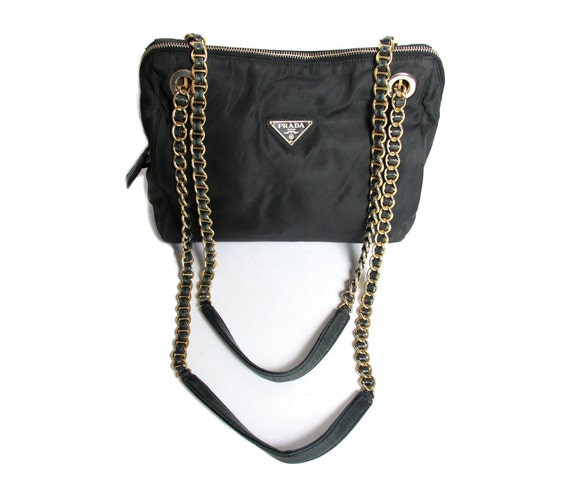 prada look alike - 90s Vintage PRADA Nylon Bag Chain Strap by GhostClubVintage