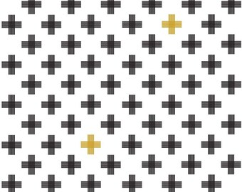 Modern Quilt Fabric, Four Corners Fabric, Weave White Sparkle, Modern Fabric, Quilting Cotton,Simple Simon & Company, Riley Blake Designs