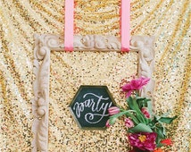 Bridal Shower Sequin Backdrop MADE TO ORDER, 45 colors of Shimmery Fabric Background for Wedding / Dessert table / Guest Photo Booth