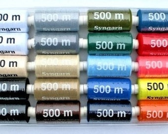 Polyester Sewing Thread for Sewing Machines 20x 500 m [1605]