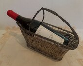 Vintage French Wire Wine Basket