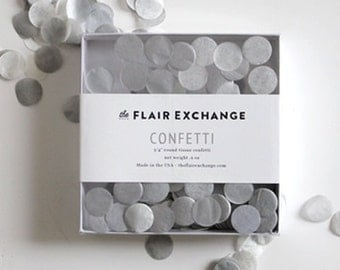 Tissue Paper Confetti - Sterling - Petite Party Studio