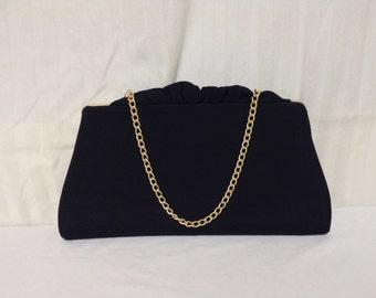 Formal black purse,handbag,bags, purses,small,formal bag,black bag,frilly top