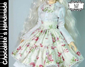 BJD Pattern SD 1/3 Rose lolita dress set E-Pattern  [with English Instruction]
