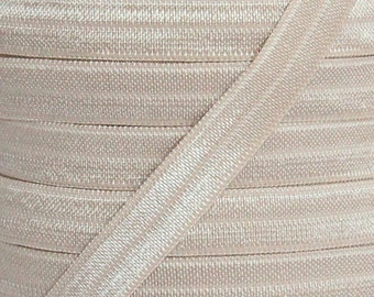 Taupe Fold Over Elastic - Elastic For Baby Headbands and Hair Ties - 5 Yards of 3/8 inch FOE