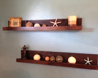 Rustic Floating Shelf, Floating Shelf, Picture Shelf