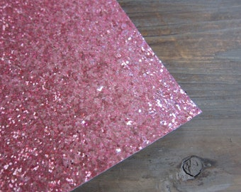 Glitter Fabric Material Classic Pink 8X10 sheet