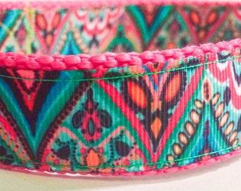 Beautiful paisley dog collar