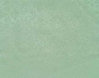 Tonal Aqua Damask - Cotton Woven Fabric