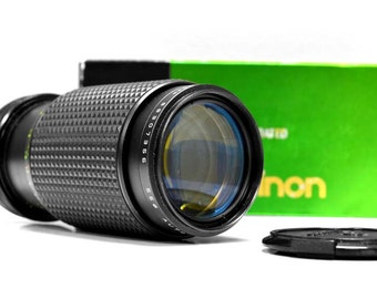 Canon FD lens 80-200mm f4.5  for canon by Makinon - zoom lens  - Vintage camera lens - macro focal lens