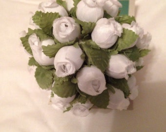 White Flower Christmas Ornament 3 1/2 inches wide