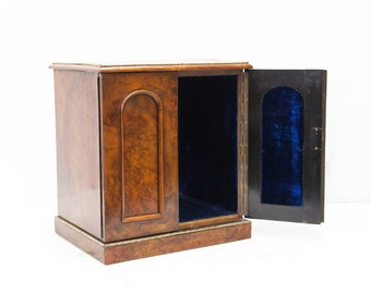 Walnut Cabinet with Brass Overlays