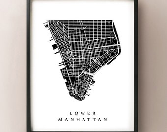 Lower Manhattan - New York City Neighborhood Art Print