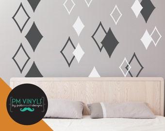 Diamond Vinyl Wall Decals, set of 20 - SHA023