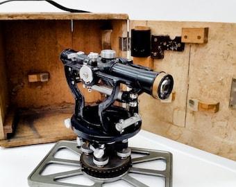 Antique Harrison's theodolite in his original wood box