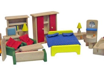 Dollhouse furniture, 34-piece