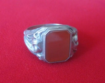 Antique Silver Carnelian Ring
