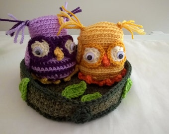 Cute Crocheted Colourful Owls
