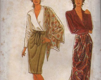Simplicity Pattern 9825 Misses Wrap skirt and Sash  Size:10-20