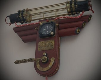 AVIATOR Steampunk lamp with clock