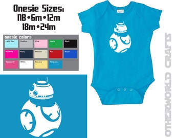 BB8 Star Wars Baby Onesie