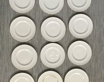 12 Lenox Dessert Plates with Fluted Edges