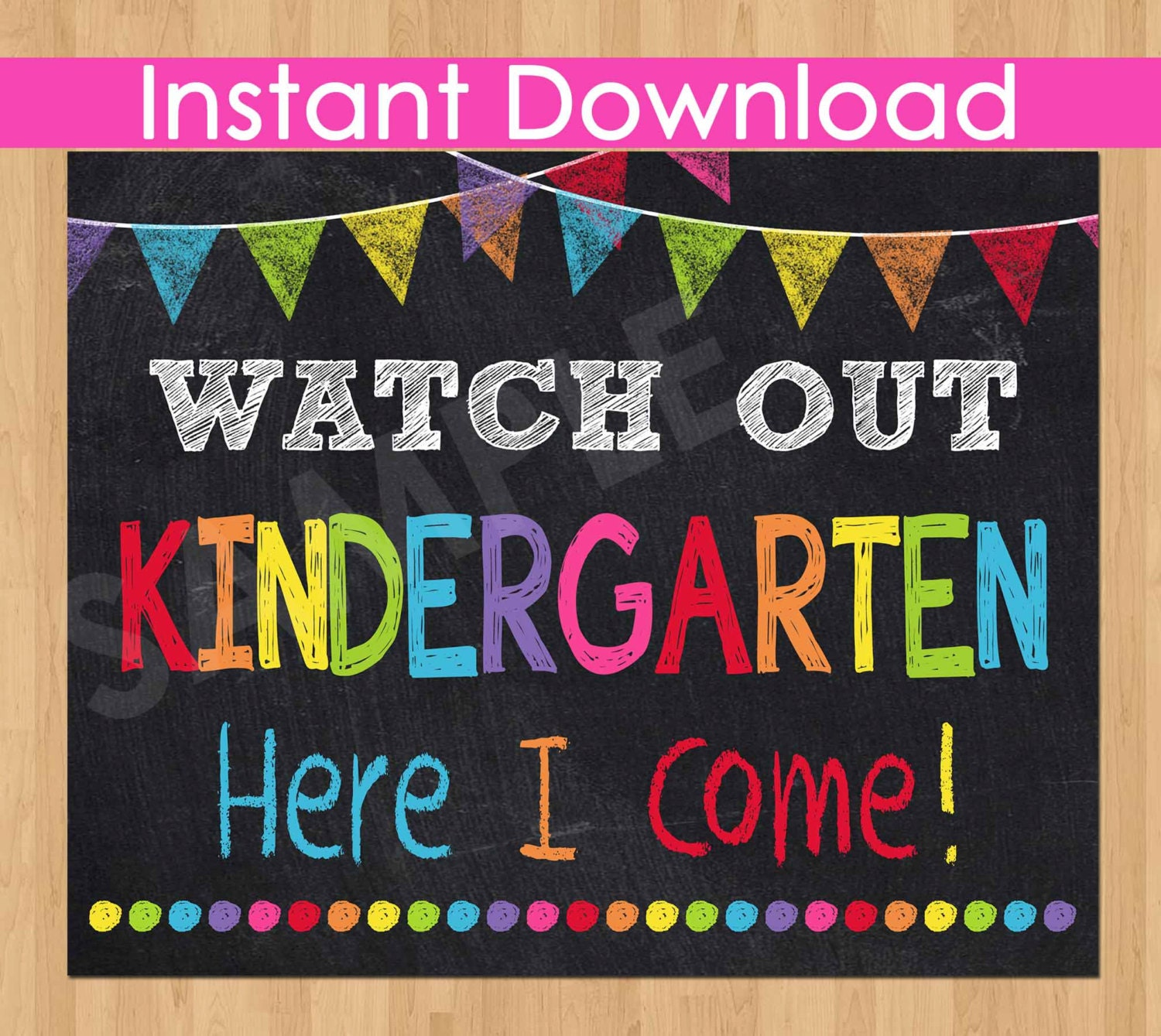 It's just an image of Selective First Day of Kindergarten Sign Printable