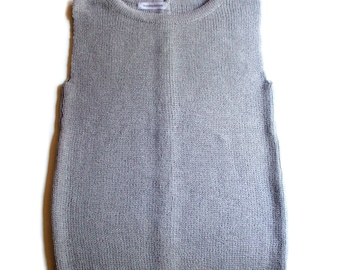 Women's Virgin wool back button vest/waistcoat/top/sweater cardigan/jumper