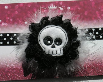 Skeleton headband  Halloween headband