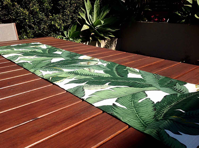 Hawaiian Backyard Decor : Table Runner Tropical Decor Outdoor Decor by MyBeachsideStyle