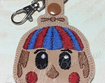 Clown Key Fob/Zipper Pull design Instant Download