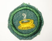 "Vintage Intermediate Girl Scout Badge ""Hostess"" circa late 1940's/ON SALE!"