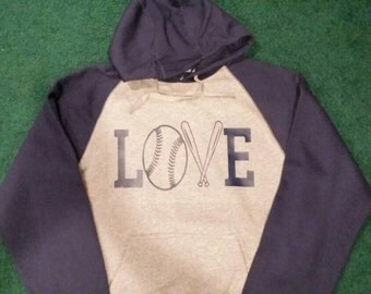 Love baseball sweatshirt