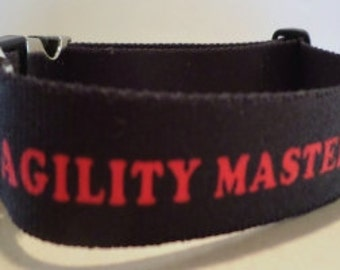 Dog Agility Master Title Dog Collar!