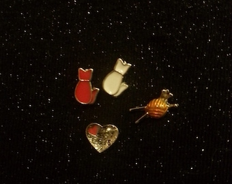 Floating Locket Charms - Cats