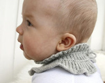 collar, handknitted, baby collar, toddler collar, hand knitting, pure wool, drops design, merino, breathable, warm, soft, made of order