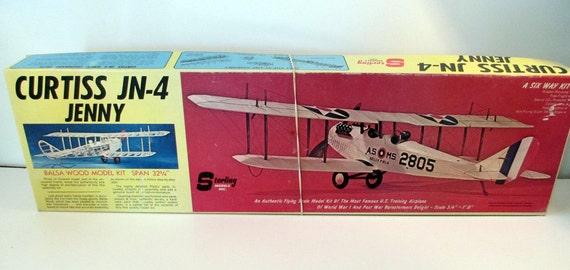 Vintage Model Airplane Kit Sterling Models Balsa Wood