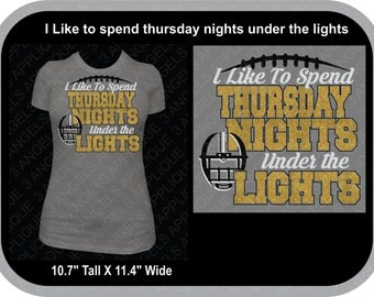 I Like To Spend Thursday Nights Under The Lights SVG Cutter Design INSTANT DOWNLOAD